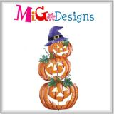 Metal Halloween 3 Tiers Pumpkin Excellent with LED Light Garden Stake