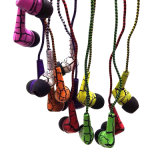 Wholesale Flashing Lightning Braid Wire Stereo Phone Earphone/Headphone/Headset for Sony
