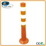 Orange Flexible PU Plastic Traffic Delineator Warning Post