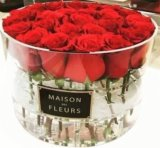 Plexiglass Clear Round Hat Flower Box with Logo Brand