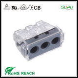 3 Pole Push Wire Connector