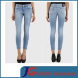 Blue Skinny Cropped Jeans Lady Jeans Pants (JC1365)