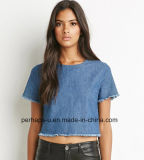 New Fashion Womens Denim Crop Tops