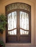 Wrought Double Entry Iron Door Modern Style (UID-D105)