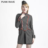 Y-624 Sexy Military Style Gothic Women Long Winter Clothing
