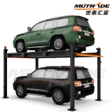 Two Levels Four Post Car Stacker Hydraulic Lift