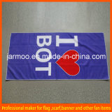 Advertising Logo Printed Blue Bath Towel