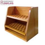Counter Table Cosmetic Stand Wood Display Rack for Essential Oil