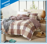 Grid Design 3 Piece Duvet Bed Linen