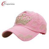 Pink Cotton Twill Embroidered Baseball Cap (CW-0723A)