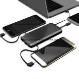 4 in 1 Portable Power Bank External Portable Charger with Built in Type C & Micro USB & Lighting & USB Cable