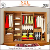 European Style Solid Wood Bedroom Clothes Wardrobe Furniture
