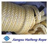 12-Strand Polyester Rope Yellow Mooring Rope Nylon Rope