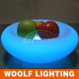 Round LED Glow Flower Fruit Dish Plate