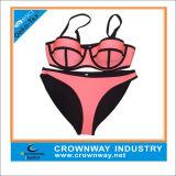 Sexy Triangle Neoprene Fabric Bikini Swimwear