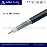 RG6 Tri -Shield Drop Cable for Distribution Line (F6TSV, F6TSVM)