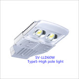 60W IP66 LED Outdoor Street Lamp with 5-Year-Warranty (High Pole)