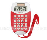 8 Digits Display Dual Power Pocket Calculator with Hanging Cord (LC323A)