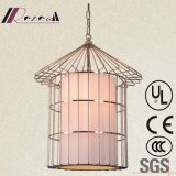 Modern Hotel Restaurant Satinless Steel Cage Pendant Lamp