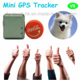 Mini Pets GPS Tracker for Cat/Dog with Geo-Fence Tracking V8