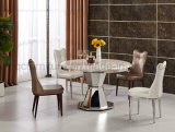 Round Dining Table Set with Strong Stainless Steel Base