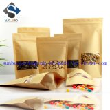Resealable Kraft Paper Stand up Packing Bag with Window