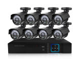 Outdoor Full HD 8CH 1080P CCTV Camera Ahd DVR Kit