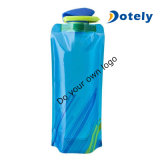 750 Ml Blue White Black Red Element Collapsible Flexible Water Bottle