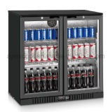 Double Swing Glass Door Back Bar Cooler with Single-Temperature Commercial Refrigerator