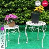 Set/2 Metal Garden Planter Stand Flower Pots