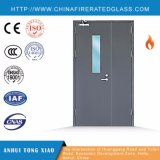 Mother and Son Double Leaf Type Steel Fire Rated Door