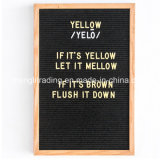 Wood Frame Felt Letter Board with Plastic Colorful Letters
