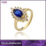 Wuzhou Foxi Wholesale Purple Stone Design Fashion CZ Rings for Women Party