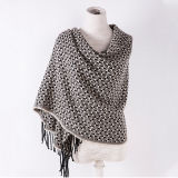 Women′s Cashmere Like Classic Checked Knitted Winter Printing Shawl Scarf (SP303)