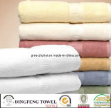 100% Cotton Jacuqurd Towel with Satinborder
