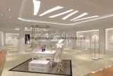 Fashionable White Wooden Ladies Garments Store Display Rack