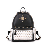 The High Quality Rivet Studded Punk Stylish Leather Backpack for Girls