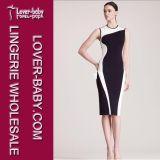 2015 Evening New Black Girl′s Fashion Dress (L36036-2)