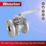 2PC Flange Ball Valve with ISO5211 Mounting Pad DIN Pn16/Pn40