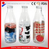 Wholesale Fruit Juice Milk Drinking Glass Bottle 1000ml with Screw Lid