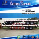 2 Axle 40ft Flatbed Container Semi Truck Trailer (LAT9350TJZG)