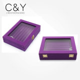 Luxury Purple Velvet Jewelry Ring Case Box