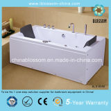 Hot Sale Two Person ABS Rectangular Whirpools Massage Bathtub (BLS-8588)