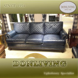 Blue Color Leather Sofa for Living Room (A32)