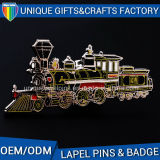 Promotional Metal Badge with Different Antique Finish with Train Shaped