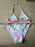 Lovely Red Strip Printing Two Piece Swimwear Kids Bikini for Girls