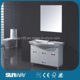 Australia Style Semi Round Bathroom Cabinet with Ceramic Basin (SW-PVC8222-1000)