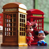 Telephone Booth Music Box, Antique Music Box