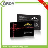 Glossy finish MIFARE Classic 1k RFID card with 8H10D number printed