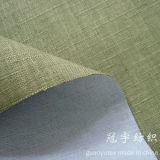 Slub Linen 100% Polyester with Fr Treatment for Sofa